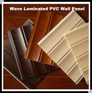Interior Decorative Triple Grooves Wood Design PVC Laminated Wall ...