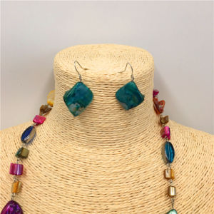 Multicolor Fashion Turquoise Sweater Necklace with Earrings Jewelry Sets pictures & photos