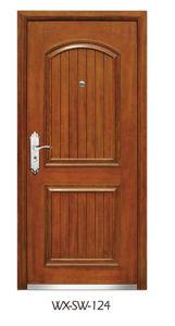 Trustworthy Manufacturer Steel Wooden Door (WX-SW-124) pictures & photos
