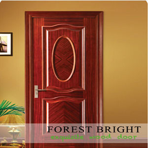 Classic Home Design Raised Molding Veneered Interior Door pictures & photos