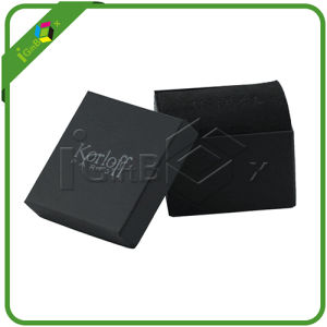 Two Piece Style Matt Black Paper Board Gift Box pictures & photos