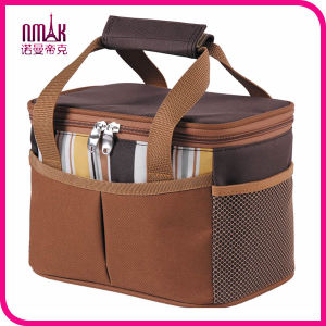Guangzhou Supplier Cooler Carrier Tote Bag Insulated Lunch Shoulder Fabric Food Box (CC-035)