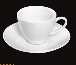 Customize Logo Porcelain Coffee Cup & Saucer Ceramic Coffee Cup pictures & photos