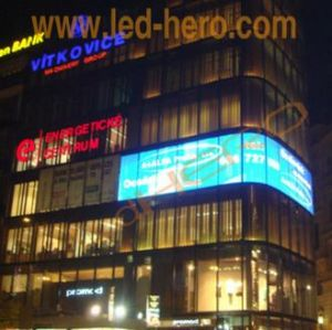 Transparent LED Display for Building Video Wall