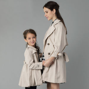 Family-Look Long Coat for Mom and Daughter