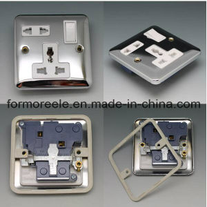 13A250V Switch British Stainless Steel Silver Universal Switch pictures & photos