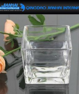 Square Glass Candle Holder Tealight Candlestick for Party Decoration pictures & photos