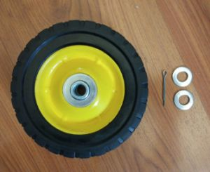 6X1.5 High Load Capacity Solid Rubber Tyre Small Equipment Wheels pictures & photos