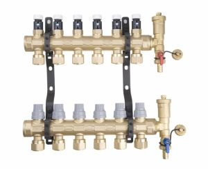 2 Loops Brass Floor Heating Manifold (G30-2) pictures & photos