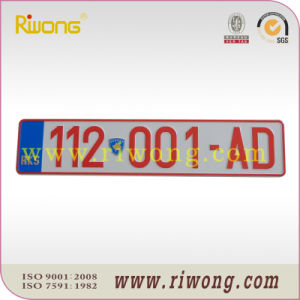 Euro Standard Embossed Reflective License Plate pictures & photos