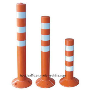Reflective Orange Plastic Safety Spring Warning Post Pjwp701