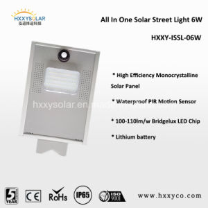 Solar Street Light Integrated All in One Type with Li Battery High Efficient Mono Solar Panel pictures & photos