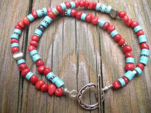 XG-BE141 Charm Jewelry Round Red Coral Sponge Charm Bracelet