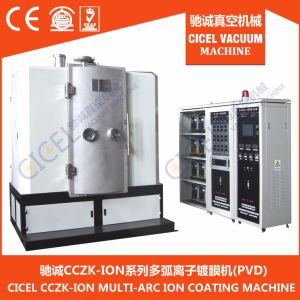 CZ-1000 Dual-Gate Jewelry Coating Machine/Chroming Coating Equipment/Evaporation Golden Color Plant pictures & photos
