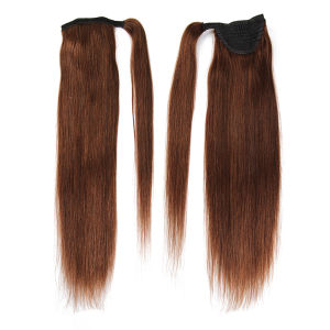 Unprocessed Natural Human Hair Ponytail Extension 100g Full Ponytail Wig Brazilian Hair Clip Ponytail Xu Chang Bhf Hair pictures & photos