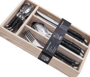 24-Piece ABS Handle Laguiole Cutlery Set (SE-K53) pictures & photos