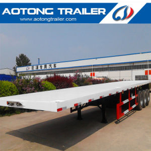 China Supplier 20ft Skeleton / Flatbed Container Semi Trailer for Sale pictures & photos