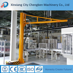 Floor Mounted Slewing Electric Jib Crane Price for Sale pictures & photos