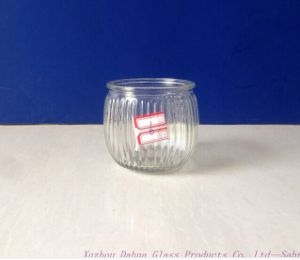 180ml Engraved Clear Glass Candle Jar pictures & photos