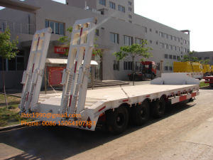 60 Ton Low Bed Semi Trailer with 3 Axles