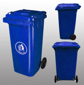 Outdoor Plastic Dustbin 100L pictures & photos