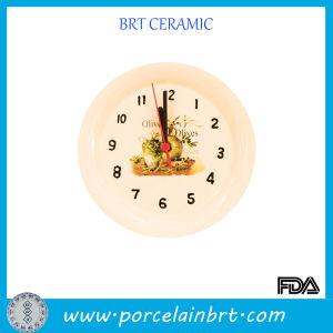 Plate Ceramic Home Decoration Clock pictures & photos