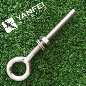 Stainless Steel Long Type Eye Bolt with Washer and Nut pictures & photos