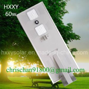 60W IP65 Outdoor Light All in One Integrated Solar LED Street Light with PIR Sensor pictures & photos