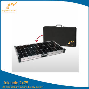 A Grade High Efficiency 150W Portable Solar Panel with CE TUV ISO Certificate (SGM-F-2*75W) pictures & photos