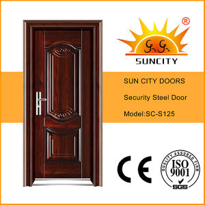 Flush Iron Entrance Door, Indian Main Door Designs (SC-S125) pictures & photos