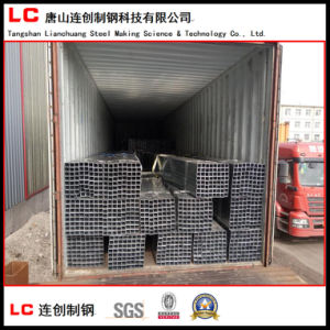 En10219 Black Square Steel Tube/Pipe Weld. Q235 pictures & photos