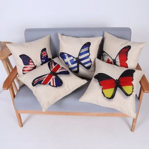 Digital Print Decorative Cushion/Pillow with Butterfly Pattern (MX-81) pictures & photos