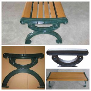 Customized Outdoor Cast Iron Park Bench Leg with Painting pictures & photos