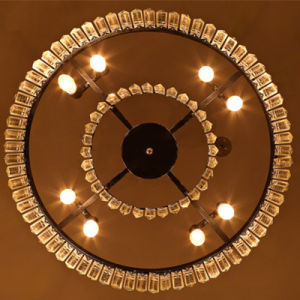 Modern Large Luxury Clear Glass Prism Round Chandelier for Living Room pictures & photos
