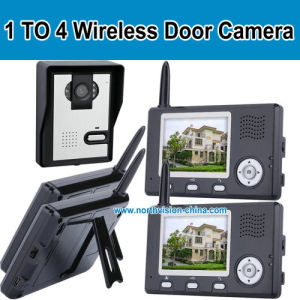 1 Camera to 4 Monitor, 3.5-Inch 2.4G Wireless Door Camera+ Door Bell+Take Photo+Night Vision+Video Recorder+Two Talk (W014)