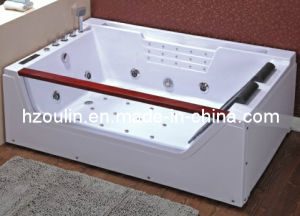 White Acrylic Sanitary Whirlpool Massage Bathtub (OL-676) pictures & photos