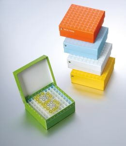 2 Inch 81-Well ID-Color Cardboard Freezer Boxes