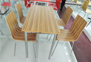 Four Leg Plywood Table Furniture for Dining Room (FOH-CXSC56) pictures & photos