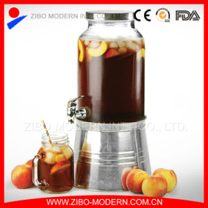 Wholesale 5L Glass Beverage Dispenser with Tap pictures & photos