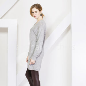 Lady Fashion Cashmere Dress Sweater 16brss110 pictures & photos