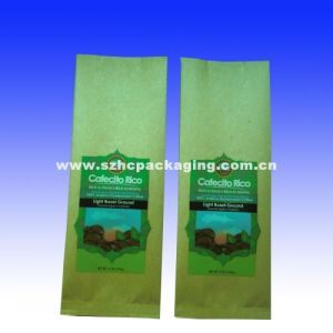 Kraft paper side gusset bag for coffee pictures & photos