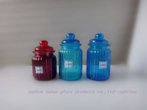 Glass Candle Jar Storage Jar Series with Lid pictures & photos
