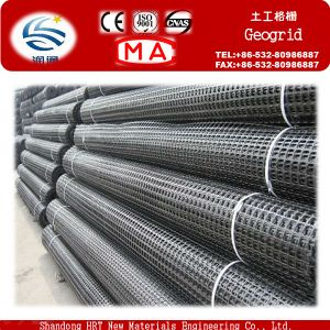 High Tensile Strength Polyester/ Polypropylene Biaxial Plastic Geogrid pictures & photos
