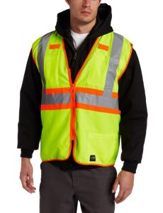 Green Reflective Safety Vest with Mesh Elastic Sides pictures & photos
