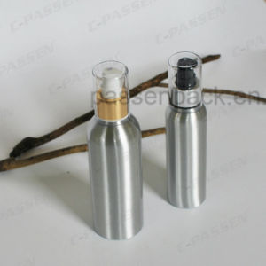 Silver Cosmetic Cream Packaging Bottle with Luxury Lotion Dispenser (PPC-ACB-056) pictures & photos