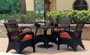 Stylish Plastic Wicker Patio Table and Chair Furniture