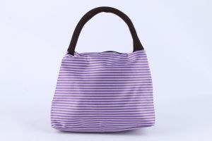 Promotional Factory Direct Sale Stripped Printed Lunch Bag Handbag Fashion pictures & photos