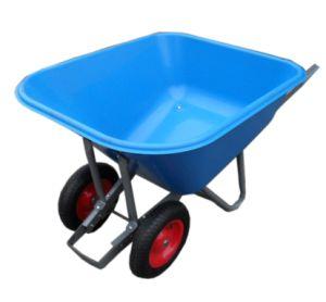 (WB9800P) Plastic Tray Wheelbarrow with Large Capacity