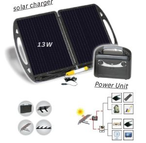 13W Solar Portable Power System