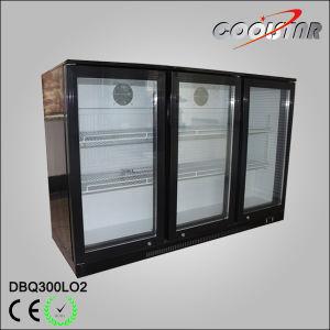 Three Swing Door Under Bar Bottle Cooler (DBQ-300LO2) pictures & photos